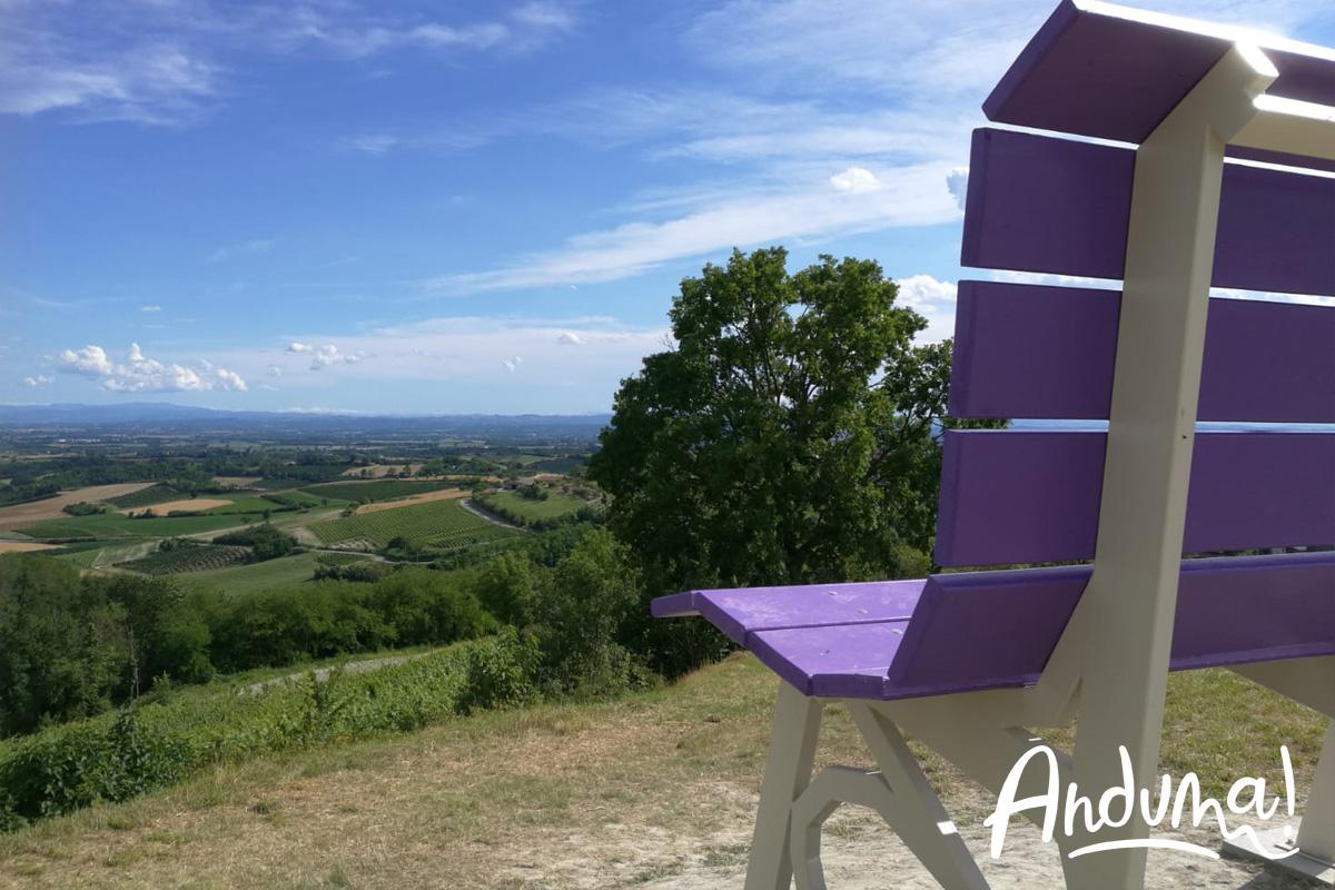 big bench viola piemonte