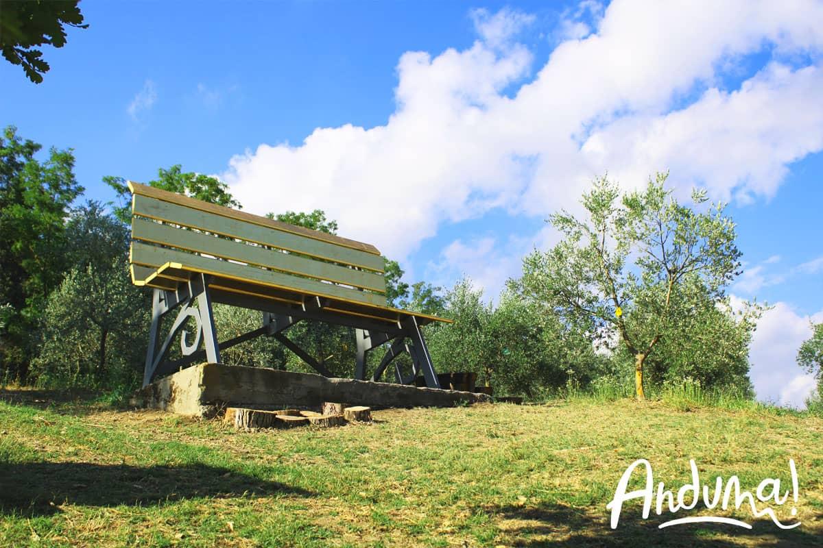 panchina gigante oro olivola monferrato