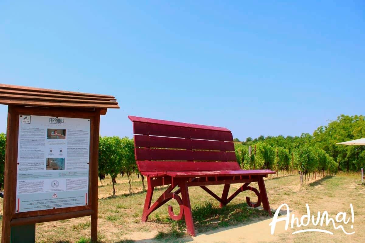 castagnole monferrato panchina gigante